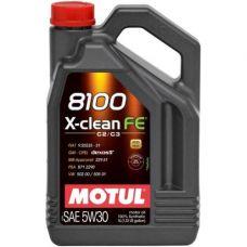 Масло Motul 8100 X-Clean FE 4л 5W30 синтетика