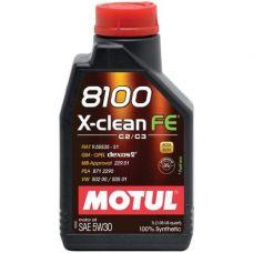 Масло Motul 8100 X-Clean FE 1л 5W30 синтетика