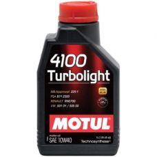 Масло Motul Turbolight 4100 1л 10W40 полусинтетика